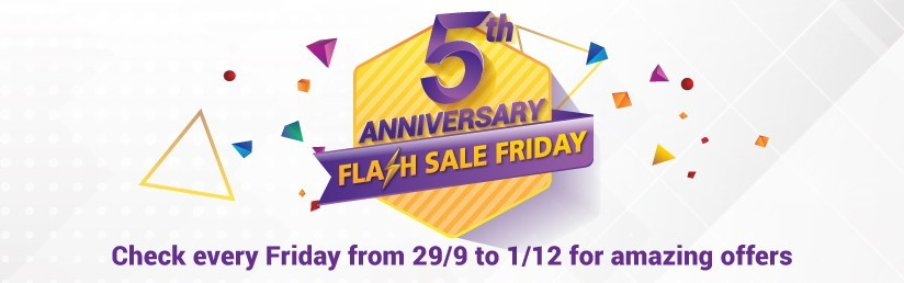 5th Anniversary Flash Sale Friday