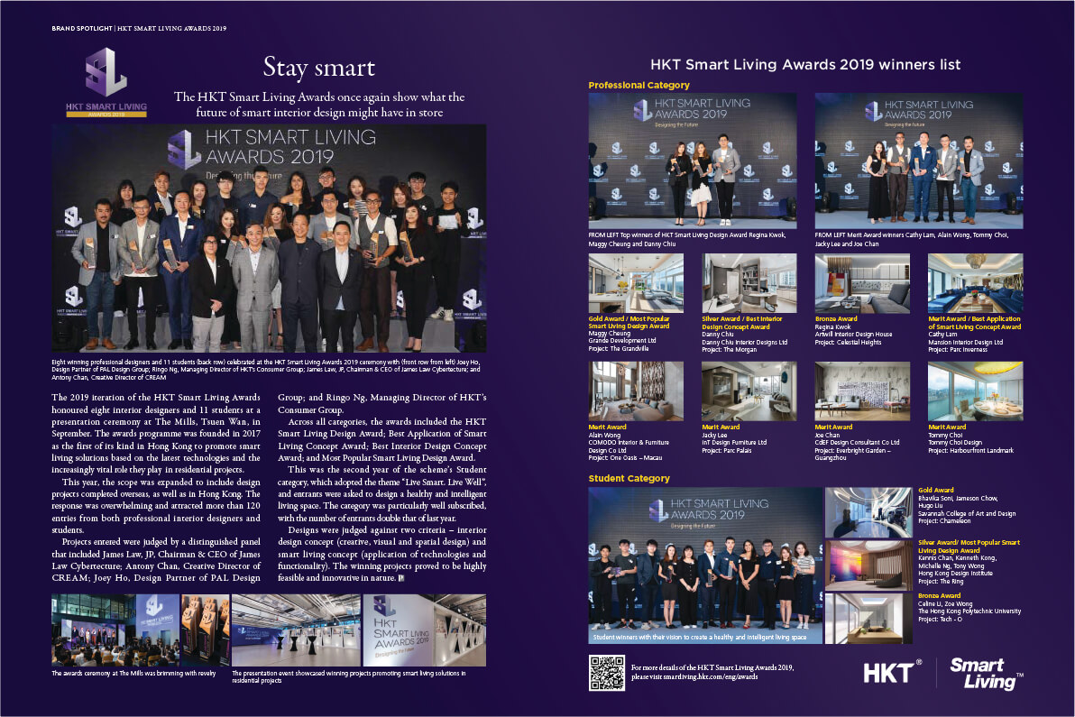 Stay SmartThe HKT Smart Living Awards once again show what the future of smart interior design might have in store