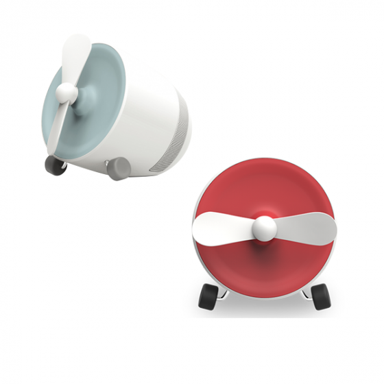 POUT EARS1 Bluetooth Speaker with Mini Fan